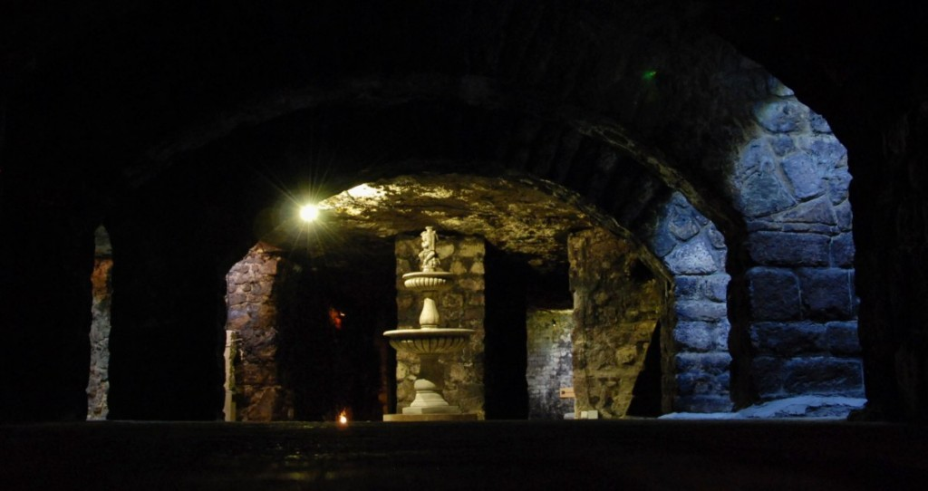 Labyrinth unter dem Burgpalast