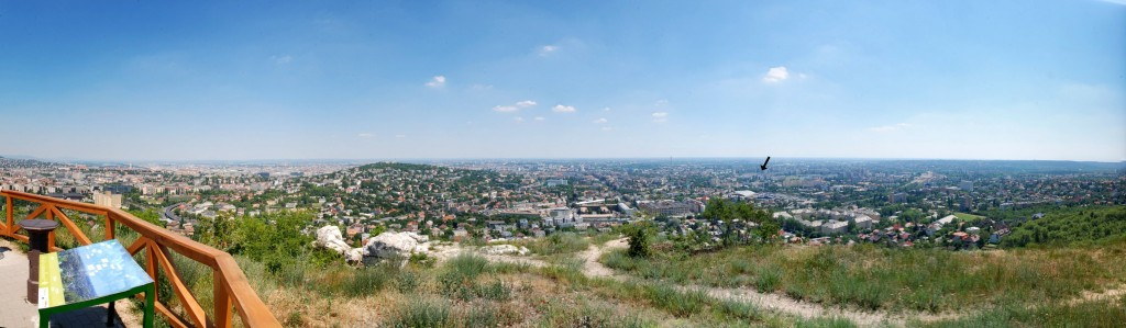 Ausblick vom Adlerberg in Budapest