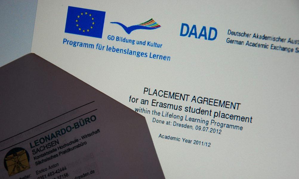 Erasmus-Stipendium für Praktika