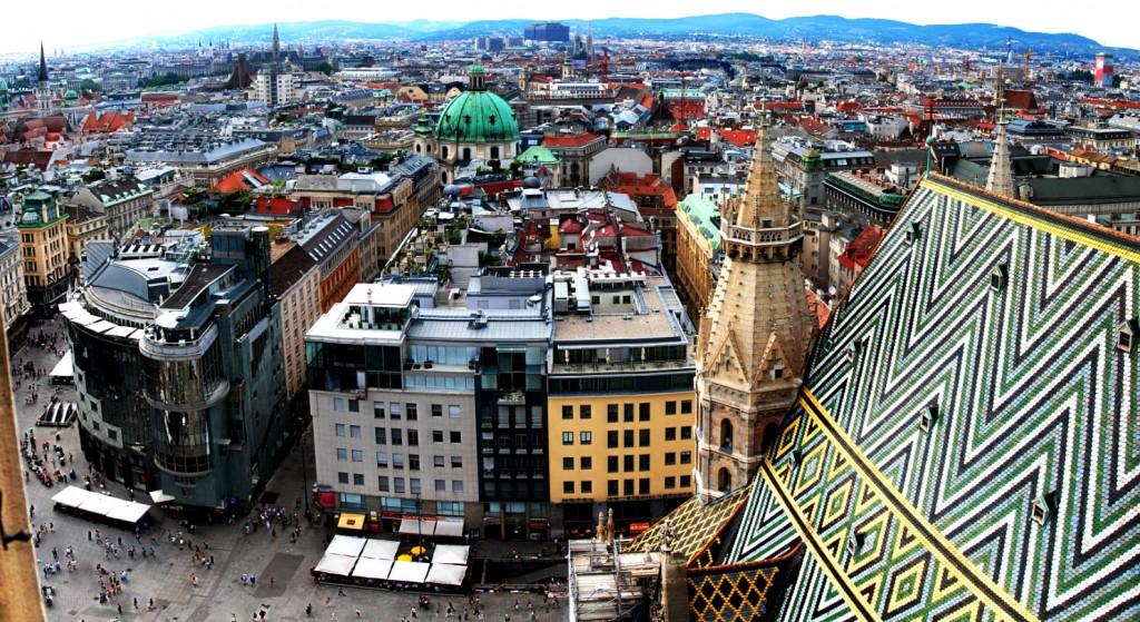 Ausblick vom Wiener Stephansdom